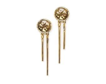 Medallion Tassel Earrings