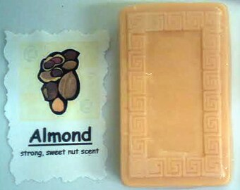 Handmade Soap ALMOND Natural Homemade Bath Bar 30 Different Scents + Free Gift