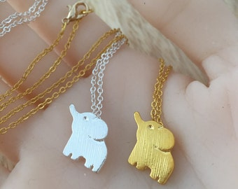 Elephant Necklace, Elephant Jewelry, Elephant Charm, Gold Elephant , Silver Elephant, Baby Elephant, Elephant Pendant, Animal Necklace