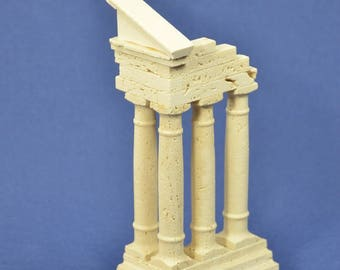 """Reconstruction of Travertine marble ruins """"Castor and Pollux"""""""