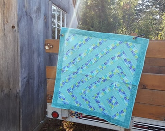 Teal Geometrical Quilt