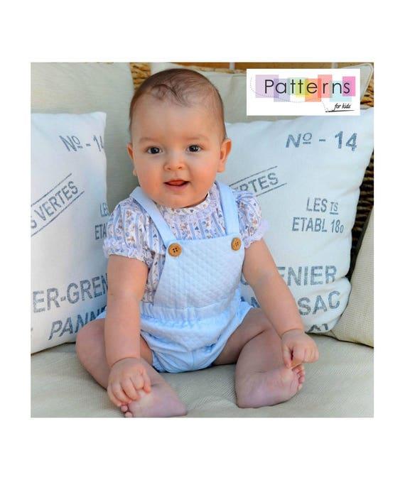 NEWBORN Baby Boy blouse + dungarees dungaree romper SET 2 PDF Sewing ...