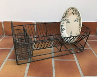 Vintage Stand Dish Drying Rack Shelf Sink Kitchen Organizer dryer 0506179