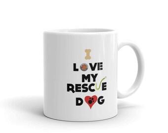 Rescue Dog Coffee Mug, I Love My Rescue Dog