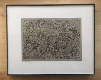 Ocean Free Flow Print