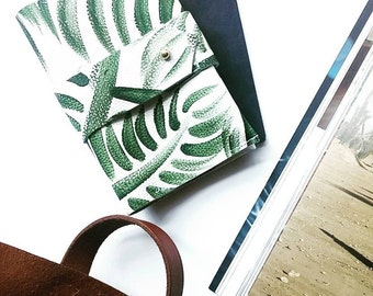 Passport Case and Card Holder - Palm Print