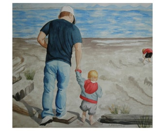 Me & My Daddy - Limited Edition Giclee