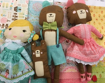 Home Sweet Home Fabric Panel by Stacy Iset Hsu-Goldilocks and the Three Bears Cut and Sew Panel