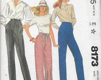 McCalls 8173 sewing pattern, Misses size 20, pants, Palmer and Pletsch