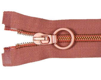 VENO Adjustable zipper 80cm copper 5mm