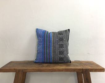 "16"" by 16"" Vintage Hmong Hill Tribe Cross Stitch Cushion Cover Ethnic Batik Thai"