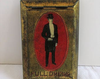 Antique Full Dress Tobacco Tin, R.A. Patterson Tobacco Co. Richmond, VA.