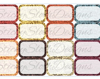 Fall Glitter Half Boxes (16 Planner Stickers)