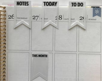 BOOKMARK PACK 001: Notes, Today, To Do, This Month