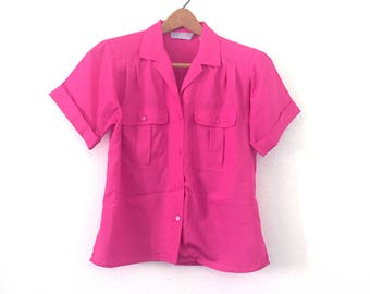 Hot Pink Silky Safari Tee