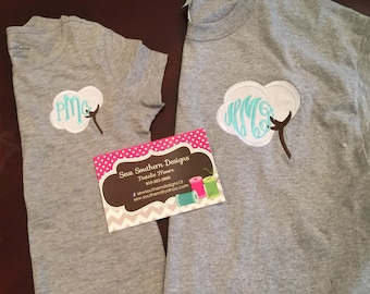 Cotton stem monogrammed shirt mommy and me