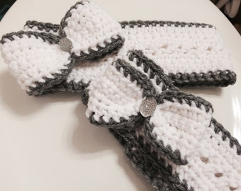 Mommy and Me Matching Crochet Ear warmers. Size Adult and 12/18 month old -PDF instant download