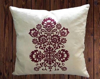Folk Art Pillow Cover
