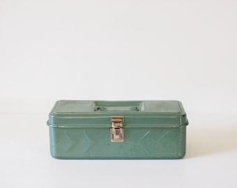 Vintage Toolbox // Green Metal Box