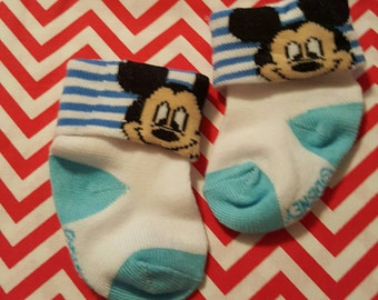 Mickey Mouse Blue Footies