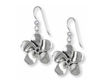 Forget Me Not Earrings Jewelry Sterling Silver Handmade Flower Earrings FMN1-E