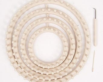 Set of four circular tricotins from Rico Design brand
