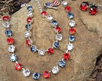 Swarovski crystal americana set