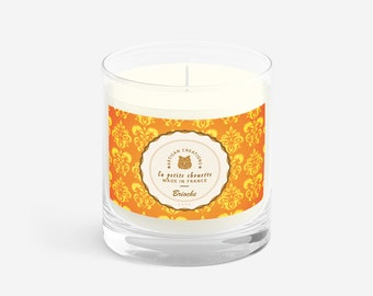 Candle scented soy wax, brioche, 200g.