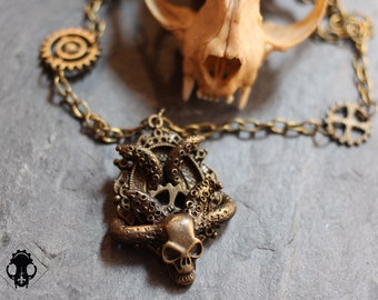"""Necklace """"Hell"""" - Collection Octopus - steampunk, pirate, Gothic jewelry"""