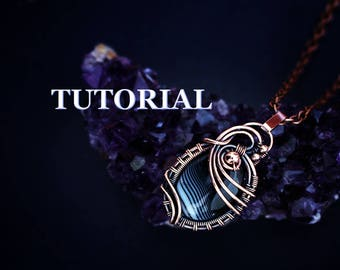 Wire wrap tutorial - Wire wrapped pendant tutorial - Wire jewelry tutorial - Tutorial wire wrapped jewelry - Wire tutorial - DIY wire wrap