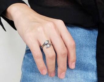 snake ring, snake jewelry, silver snake ring, snake ring silver, animal ring, adjustable ring, snake ring vintage, snake ring men, snake
