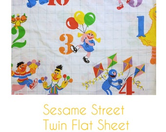 Sesame Street Twin Flat Sheet