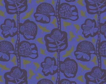 Sweet Dreams by Anna Maria Horner for Free Spirit - Remains - Midnight - 1/2 yard Cotton Quilt Fabric