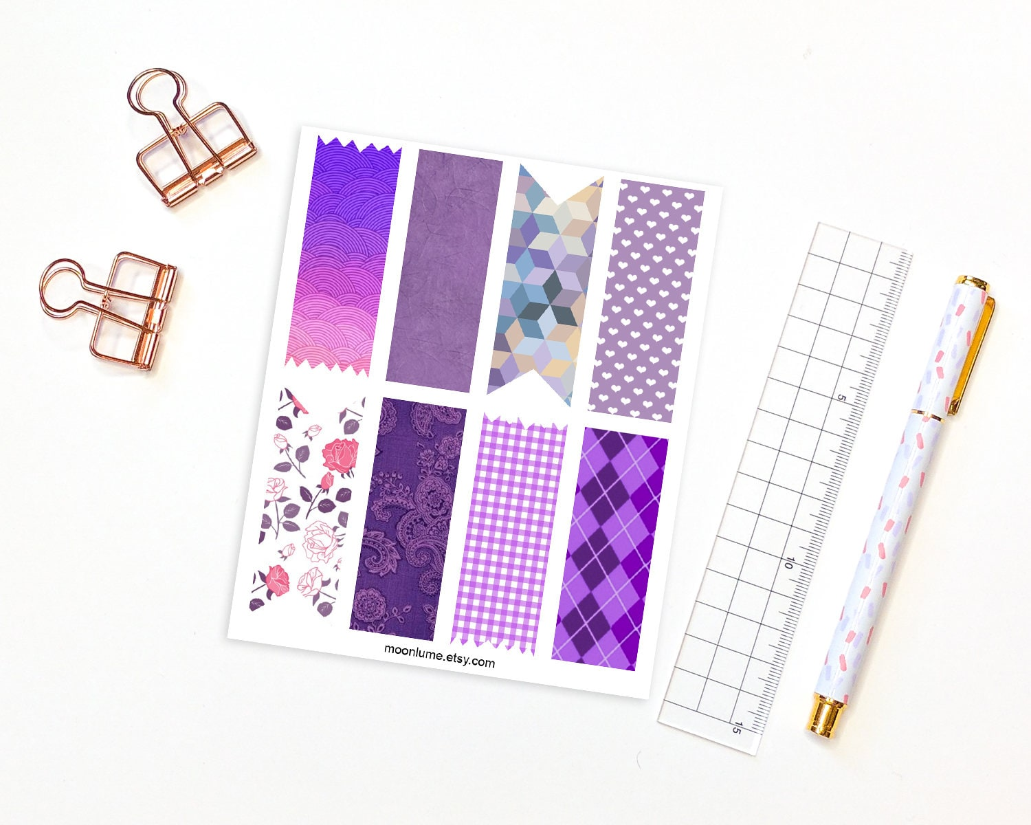 how to make washi tape stickers