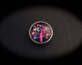 Pressure 18mm for jewelry - tree hearts fancy cabochon
