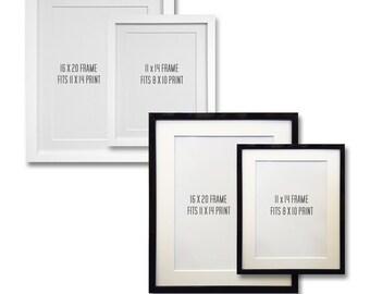 Add a FRAME to Your Order - Black or White Frames - Framed Print - Gifting -