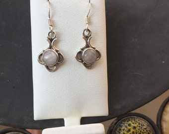 Silver and quartz earrings