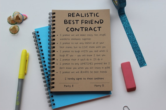 Realistic best friend contract 5 x 7 journal thecheapjerseys Gallery