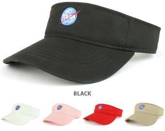 NASA Insignia Logo Embroidered Cotton Adjustable Visor Cap - 3001-INSIGNIA