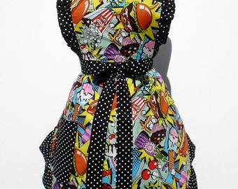 Apron Retro Inspired Sweet Midnight Snack Apron FREE SHIPPING