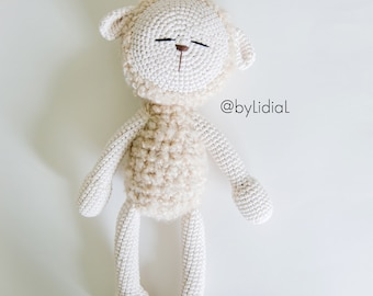 Crochet Lamb Sheep Stuffed Animal Toy