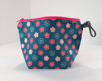 Sakura Standing Pouch, Turquoise
