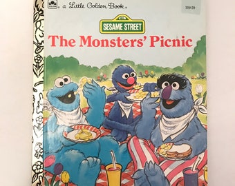 Vintage Sesame Street Little Golden Book