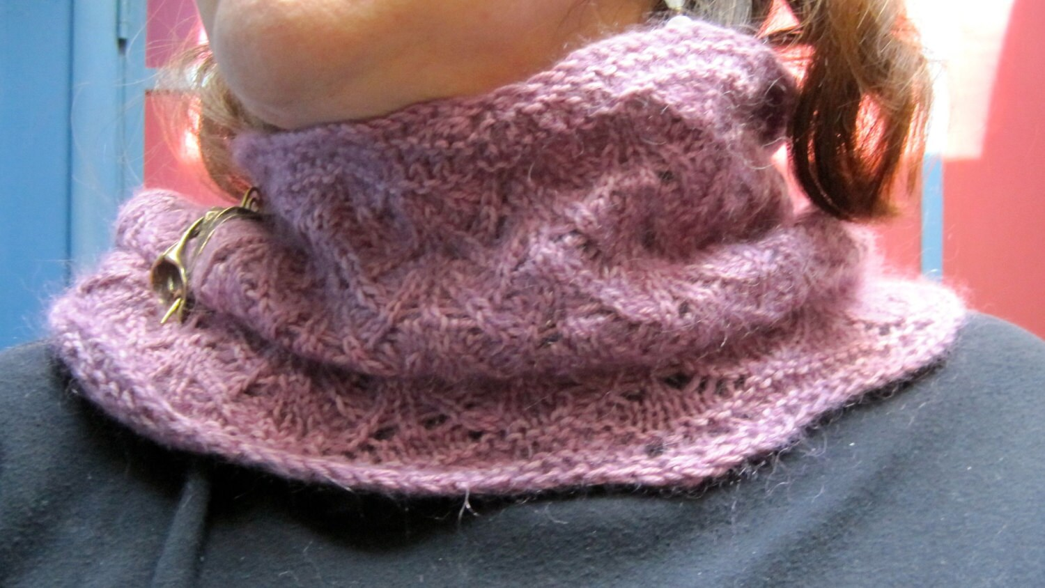 Knit cowl pattern fuzzy lace fountain stitch neck warmer zoom bankloansurffo Choice Image