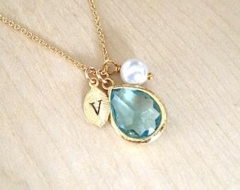 Lovely Aquamarine necklace | Etsy NU86