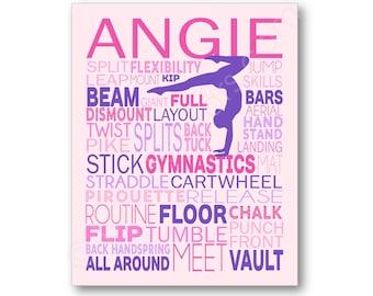 Gymnastics Typography Poster, Gymnastics Gift, Gymnastics Art, Gymnastics Poster, Gymnast Canvas, Gymnast Gift, Gymnast Art, Gymnastics Team