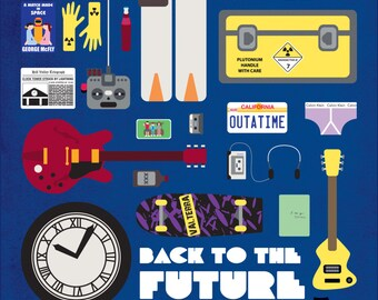 Back to the Future • Movie Parts Poster