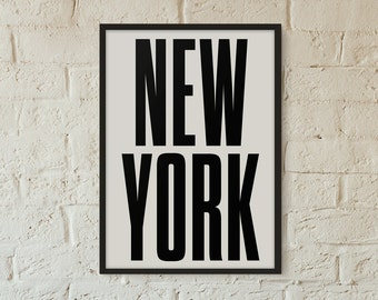 New york Poster, Graphic art, USA, Black and White Art Typography Poster, New york wall art, Brookyln Poster,NYC Print, NYC Art