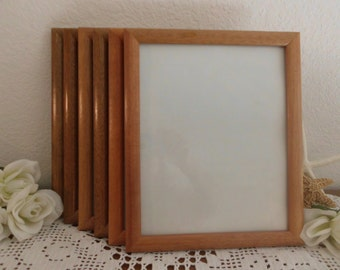 Vintage 8 x 10 Frame Golden Brown Wood Picture Photo Rustic Eco Friendly Country Cottage Natural Home Decor Wedding Decoration Wall Gallery