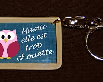 """Keychain style slate of school """"Grandma she is so cool"""""""